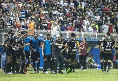 Diego Maradona debutó con los Dorados de Sinaloa. AFP