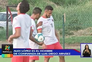 Alex López es el líder de asistencias de Alajuelense