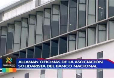 Fiscalía allana oficinas de asociación solidarista del Banco Nacional por una serie de créditos