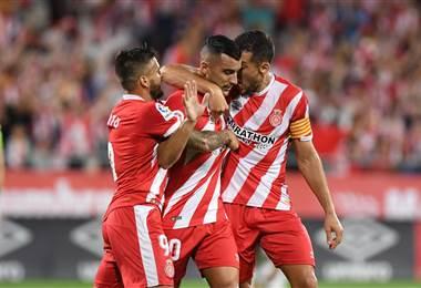 El equipo de Girona de la Liga española.