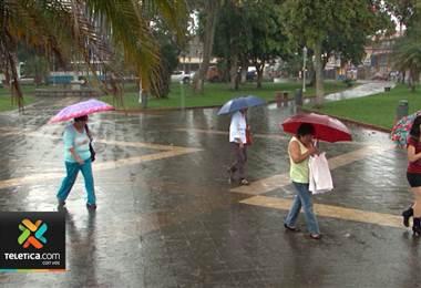 IMN pronostica un incremento en las lluvias para los siguientes días
