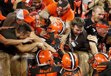 Los Browns derrotaron  a los Jets. AFP