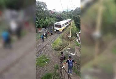 Mujer es atropellada por el tren en Guadalupe
