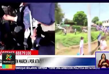 Nicaragua: Ataque de antimotines y paramilitares en una marcha dejó un muerto y cinco heridos