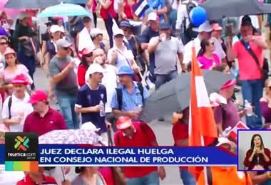 Juez declara ilegal huelga del Consejo Nacional de Producción