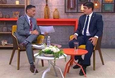 Presidente Carlos Alvarado visitó Buen día y aclaró dudas sobre el plan fiscal