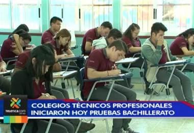 Colegios técnicos iniciaron pruebas de bachillerato este jueves
