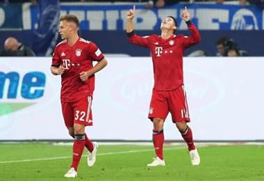 James Rodríguez del Bayern Munich. AFP