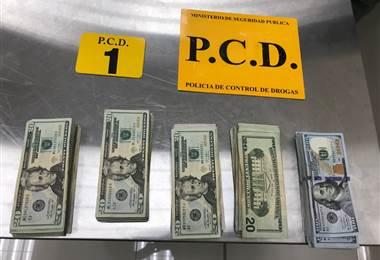 Dólares confiscados. MSP