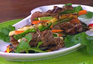 Receta: Rollitos de carne rellenos con verduras