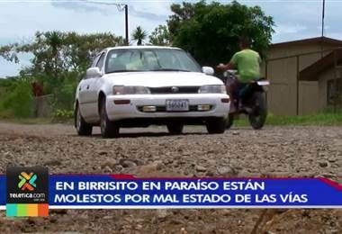 Vecinos de Birrisito en Paraíso de Cartago claman para que la municipalidad arregle las calles