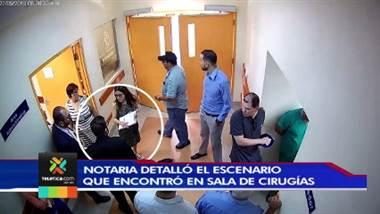 Notaria pública detalló el escenario que encontró en sala de cirugías del hospital San Juan de Dios