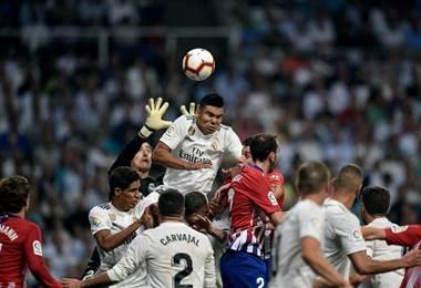 Real Madrid vrs Atlético de Madrid  AFP.