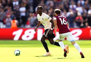 Paul Pogba, volante francés del Manchester United.