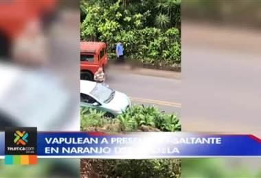 Vapulean a presunto asaltante en Naranjo de Alajuela