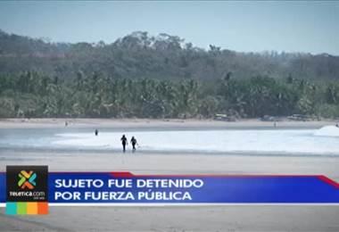 Sospechoso de violar a turista argentina en playa Sámara recién salía de la cárcel
