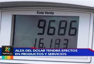 Combustibles y productos importados subirían de precio por el alza del dólar