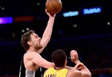 Pau Gasol jugador de San Antonio Spurs.|AFP