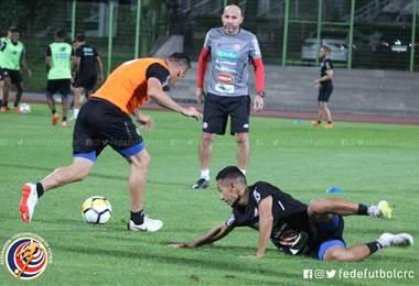 Selección Nacional durante el entrenamiento en Corea del Sur.|Prensa Fedefútbol