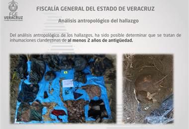 Fosa clandestina en Veracruz, México.|Fiscalía de Veracruz