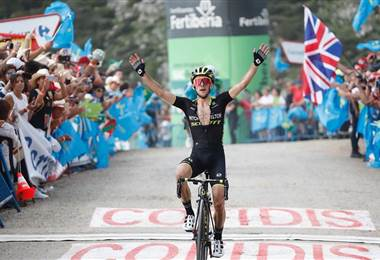 El ciclista británico Simon Yates (Mitchelton-Scott).