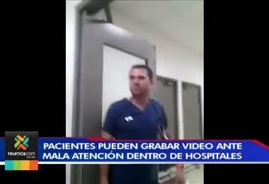 Pacientes pueden grabar video ante mala atención dentro de centros médicos de la CCSS