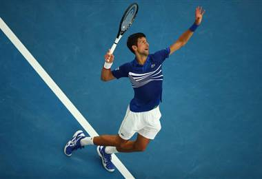 Novak Djokovic, tenista serbio.|Australia Open