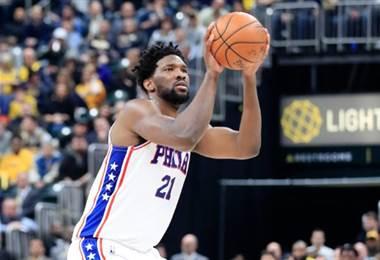Joel Embiid, de los Sixers de Filadelfia.|AFP