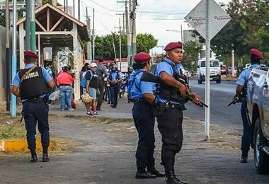 Policía nicaragüense. AFP.