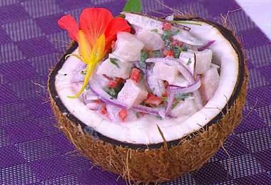 Receta: Ceviche de Corvina y Coco