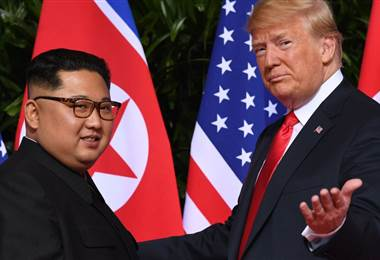 """Donald Trump y Kim Jong-un"" - BBC"