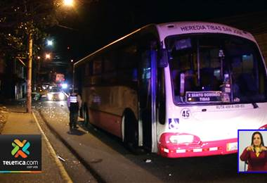 Hombre fallece tras ser atropellado por un bus en Cinco Esquinas de Tibás