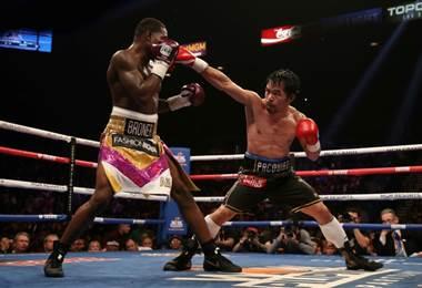 Manny Pacquiao derrotó a Bronner. AFP