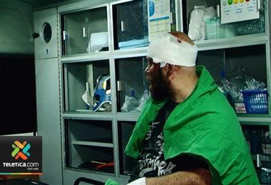 Hombre resultó herido por colisión el Cartago