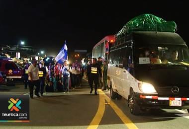 Poco más de 11.000 peregrinos han cruzado la frontera hacia Panamá en los últimos días