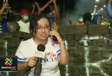 Policía de Nicaragua permitió que familiares visitaran en la cárcel a la periodista Lucía Pineda