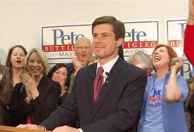 El alcalde de la ciudad de South Bend (Indiana), Pete Buttigieg.