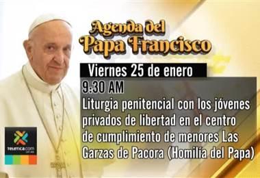 Actividades del Papa para este viernes estarán dirigidas enteramente los jóvenes