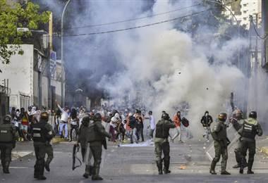 Protestas en Venezuela.AFP.