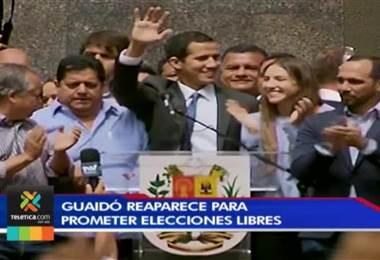 """Guaidó convoca a """"gran movilización"""" en Venezuela para la próxima semana"""