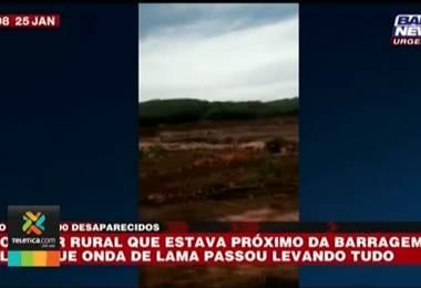 Aproximadamente 200 desaparecidos tras ruptura de dique minero en Brasil