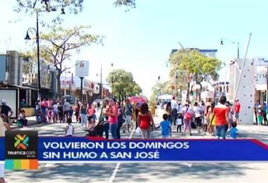 Cientos de personas disfrutaron de la primera fecha de los domingos sin humo en Paseo Colón.