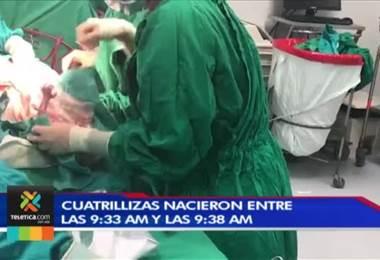 Conozca los nombres de las cuatrillizas nacidas en el Hospital México