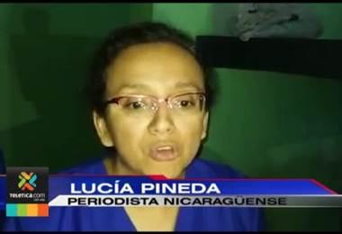 Periodista Lucía Pineda pide en un video a los nicaragüenses que sigan orando por su país