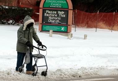 Ola de frío ártico en Estados Unidos. AFP.