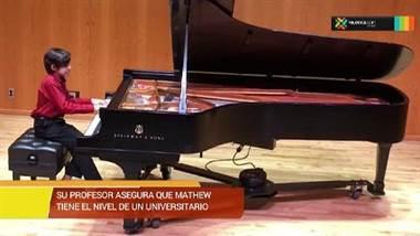 Talentoso niño pianista culminará sus estudios en prestigiosa escuela en Minessota