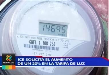 ICE solicita el aumento de un 20% en la tarifa de luz