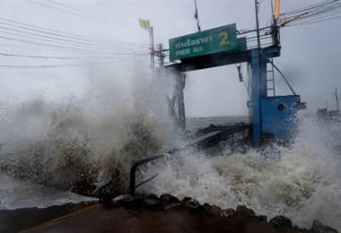 Tormenta tropical Pabuk azota Tailandia.|AFP