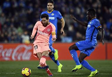Messi. Barcelona vs. Getafe. AFP.