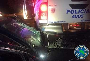 Chofer ebrio intentaba huir de policías